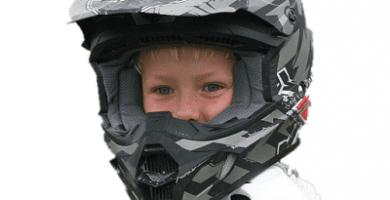 casco moto niño infantil